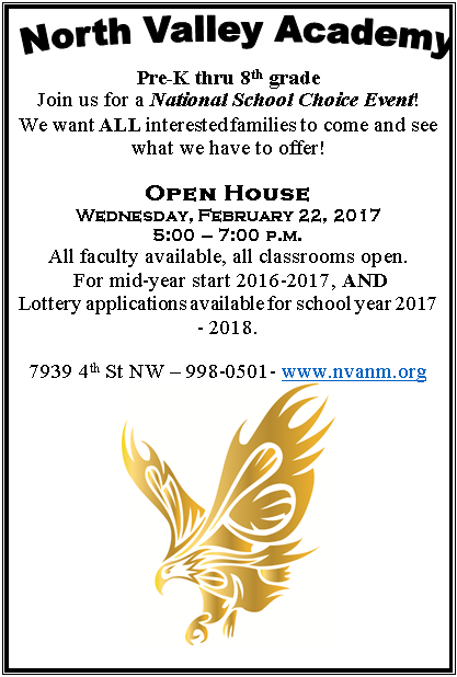 NVA Open House on February 22nd!